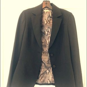 Black two button suiting jacket
